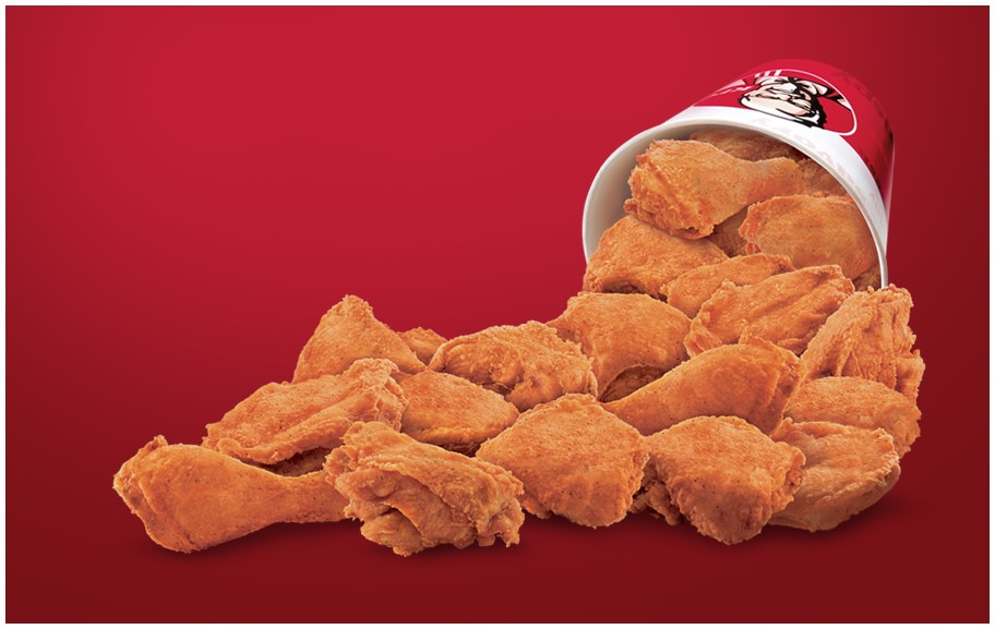 21 pieces of Chicken from KFC