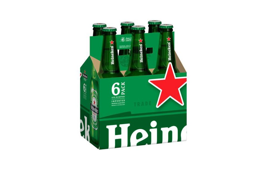 Heineken Lager Beer, 12 fl oz, 6 pack