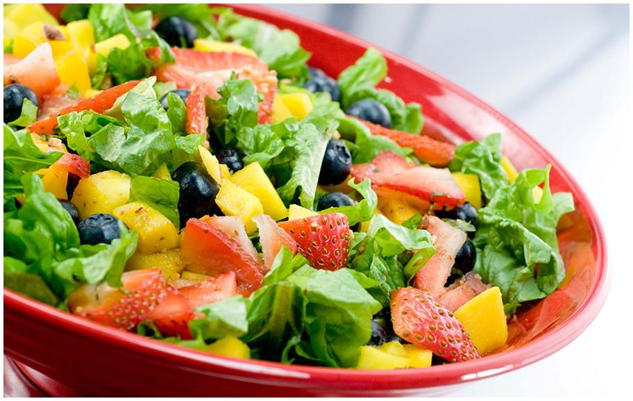 a Bowl of Fresh Garden Salad