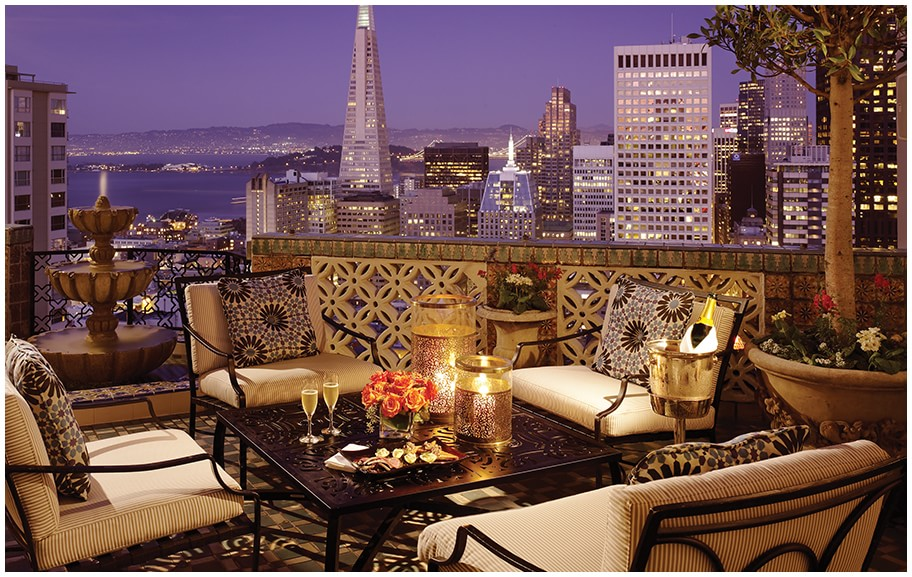 the Presidential Suite at Fairmont San Francisco for one night