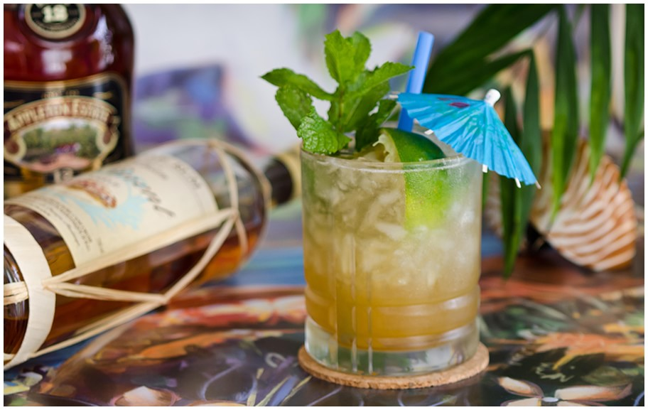 One of a kind Mai Tai of the Merchant Hotel in Belfast, Ireland