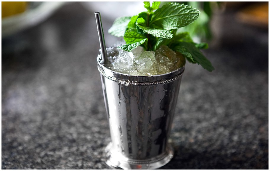 a serving of Kentucky Derby Mint Julep
